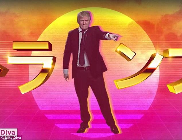 Japanisches Girly bewundert Donald Trump als Weltherrscher