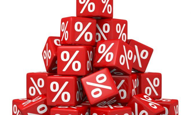 cubi con simbolo percentuale